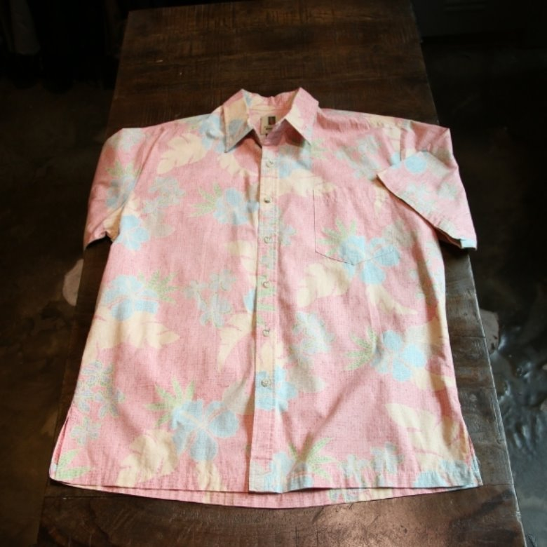 tori richard pink leaf shirt